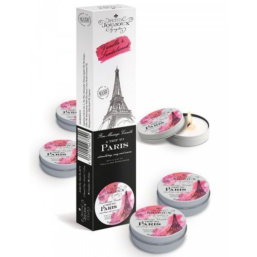Petits Joujoux Fine Massage Candles - A trip to Paris (5 x 33 g) (4260152467700)
