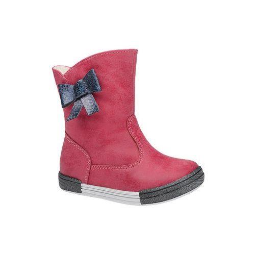 Botki kozaczki zimowe 4804 fuxia różowe ocieplane - fuksja ||różowy marki Kornecki