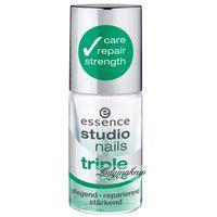 Essence - Studio nails - TRIPLE CARE - Preparat potrójnie pielęgnujący do paznokci - 754281