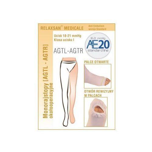 Mono rajstopy przeciwzakrzepowe na lewą nogę relaxsan standard i klasy kompresji, ucisk 18-21 mmhg unisex Medicale (włochy)