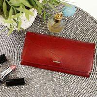 Skórzany portfel damski czerwony krenig el dorado 11026