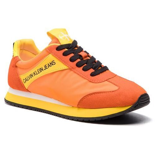 8acabc1663d64 Calvin Klein Sneakersy jeans - jill r8527 multi orange, Calvin klein, 35-41