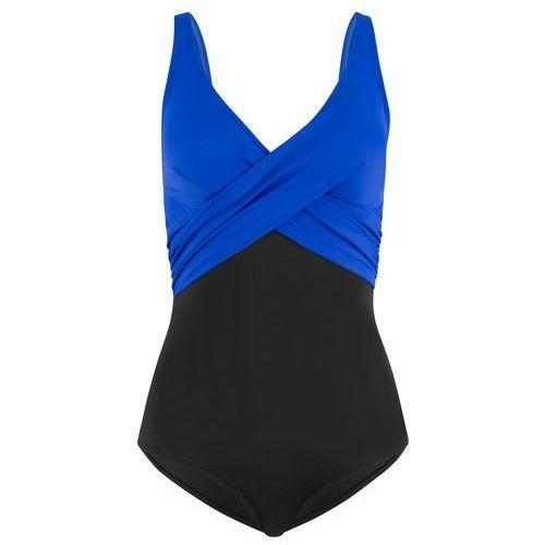 Kostium kąpielowy, przyjazny dla środowiska bonprix czarno-błękit królewski, kolor czarny