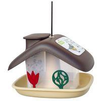 karmnik dla ptaków domek, brązowy marki Plastia