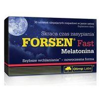 Tabletki Olimp, Forsen Fast + melatonina, 30 tabletek - Długi termin ważności! DARMOWA DOSTAWA od 39,99zł do 2kg!