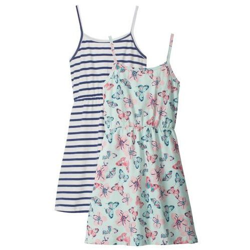 e9d9ee5b1f Zobacz ofertę Sukienka letnia dziewczęca (2 szt. w opak.) niebieski w paski    . Bonprix