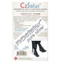 Podkolanówki męskie przeciwżylakowe z bawełną (60%) i srebrem, i klasa kompresji, ucisk 21mmhg, silver - czsalus marki Czsalus (włochy)