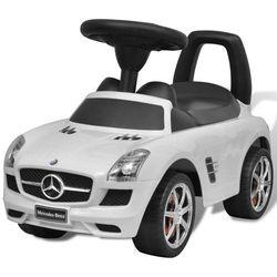 Vidaxl mercedes benz - samochód zabawka dla dzieci napędzany nogami biały