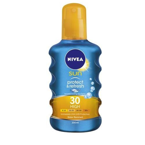 Sun protect & refresh spray do opalania spf 30 (invisible cooling sun spray) 200 ml Nivea - Promocyjna cena