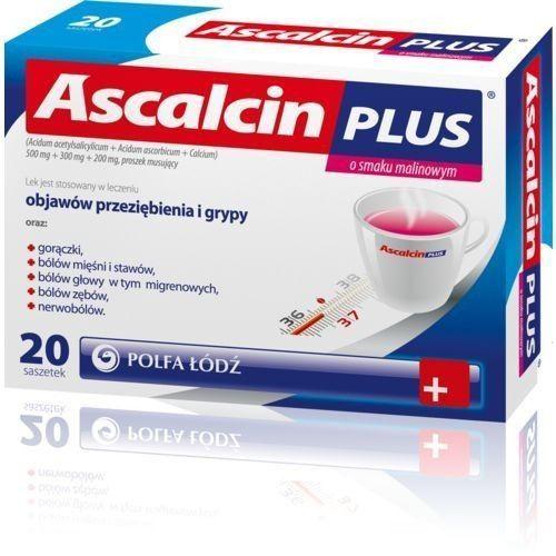 Ascalcin Plus smak malinowy x 20 saszetek