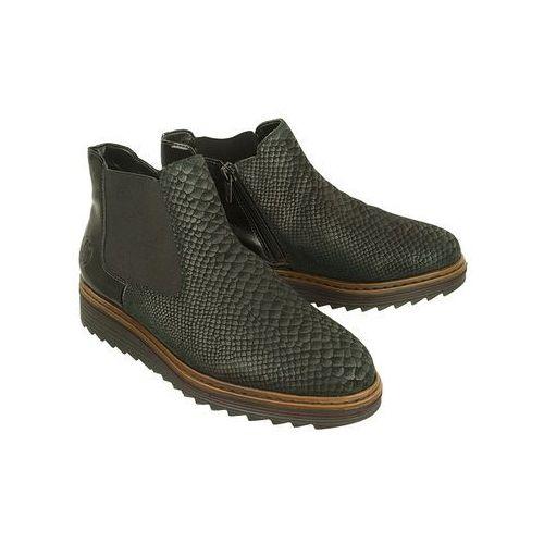 7ac53b8c6d485 ▷ Y6384-00 black, botki damskie - czarny (Rieker) - ceny,rabaty ...