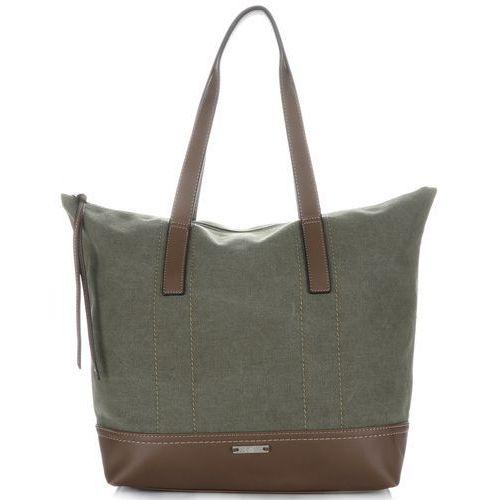 e0f5f11958da7 Uniwersalne torebki damskie firmy na każdą okazję khaki marki David jones