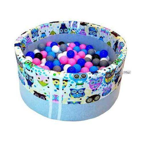 Babyball Suchy basen z piłeczkami dla dzieci niebieskie sowy