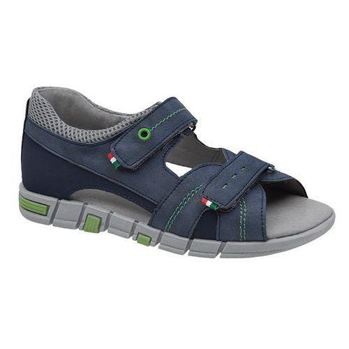 Sandałki dla chłopca KORNECKI 6337 Granatowe Niebieskie - Granatowy ||Niebieski, kolor niebieski