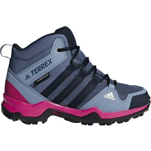 Adidas terrex ax2r climaproof buty dzieci szary/różowy uk 12,5 | eu 31 2018 buty górskie