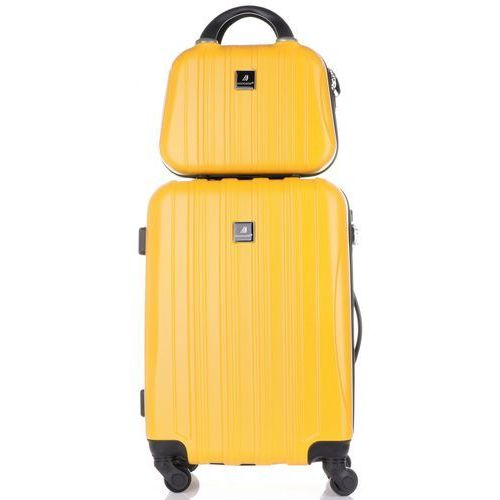 9b5e64c63dc76 Madisson Praktyczny zestaw walizek 2w1 renomowanej marki żółte (kolory) -  fotografia produktu