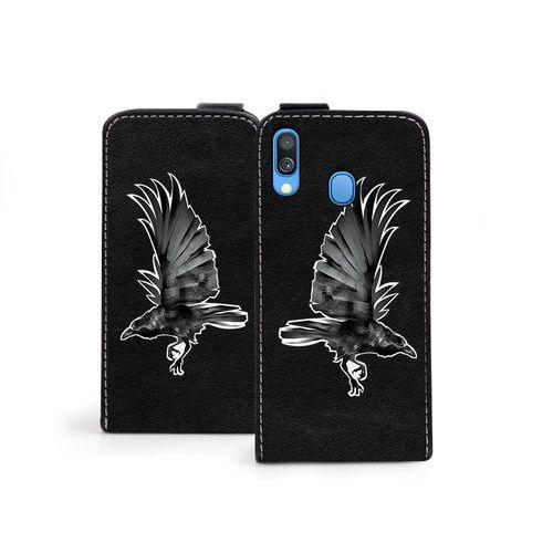 Samsung Galaxy A40 - etui na telefon Flip Fantastic - czarny kruk, ETSM893FLFCEF026000