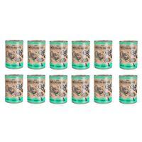 Wiejska Zagroda ZESTAW KRÓLIK z INDYKIEM 10+2 gratis = 12 x 400g karma w puszce dla psów, 5906874201459_zestaw