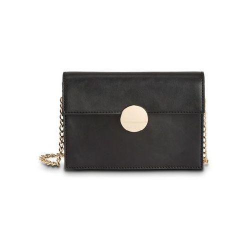 6f6065023a3bd Bonprix Mała torebka na ramię z okrągłym elementem bonprix czarno-złoty