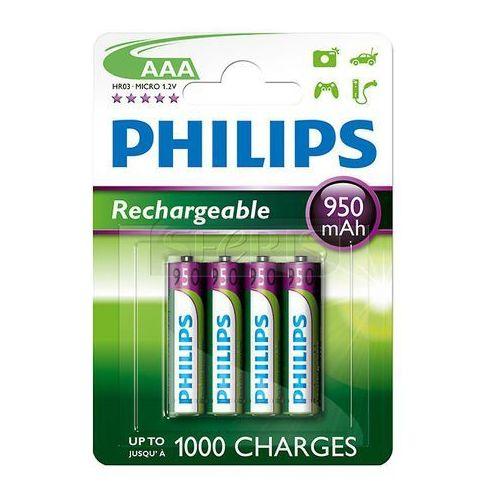 Akumulator Philips R03B4A95/10 AAA 950mAh (4 szt. poj. 950mAh) - AkumulatorPhilipsR03