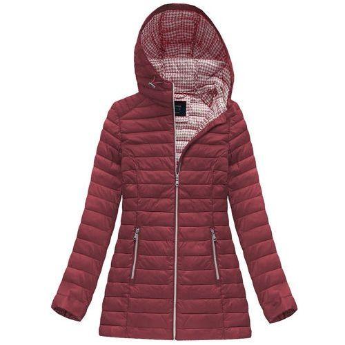 66afaa75c53cd Zobacz ofertę Pikowana kurtka z kapturem bordowa (gww-1788) - bordowy,  G-stone