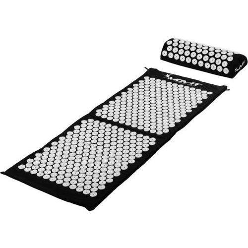 Mata do akupresury z poduszką MOVIT 130 x 50 cm, czarna