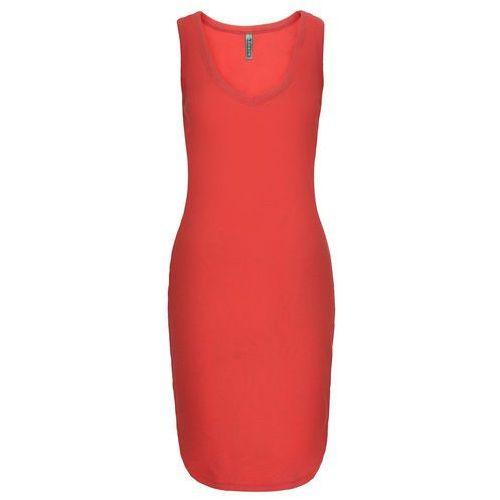 Sukienka shirtowa czerwony sygnałowy Bonprix
