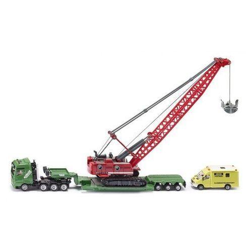 Siku ciężarówka z koparką i pojazdem wsparcia