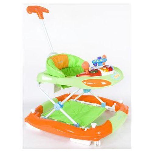 Sun baby Chodzik z kołyską i kierownicą pomarańczowo-zielony sb-213prn/zp błyskawiczna wysyłka! 24h