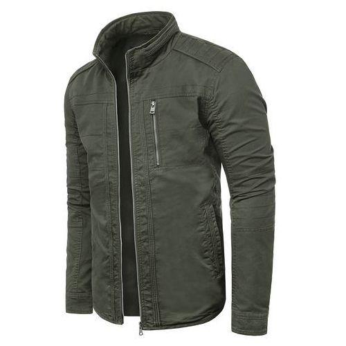 64a8f874d889e Wyprzedaż kurtka męska jesienna ewm67 - khaki (Risardi) - sklep ...