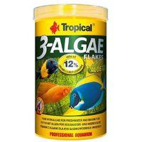 3-algae flakes - pokarm z algami dla ryb roślinożernych 1000ml/200g marki Tropical