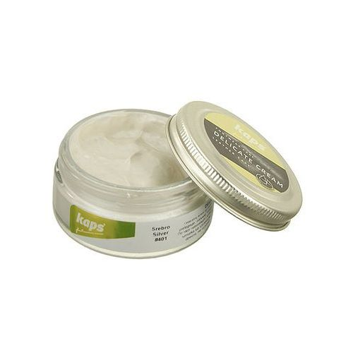 pasta 04_5017_401 delicate metalic cream 50 ml srebro, pasta do obuwia - srebrny marki Kaps