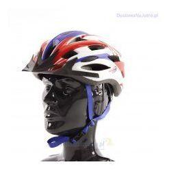 Axer sport Kask rowerowy axer liberty red/blue z daszkiem
