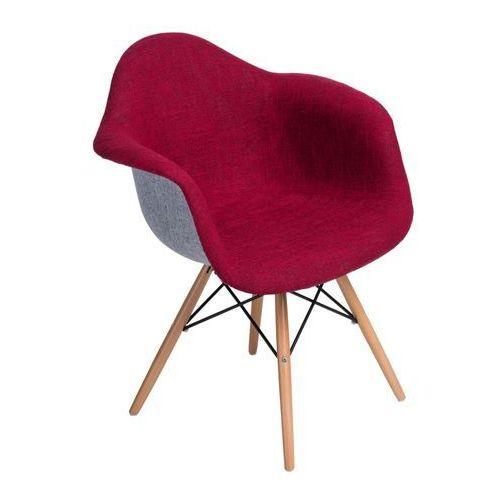 Krzesło p018 daw duo czerwono szare (D2.DESIGN)