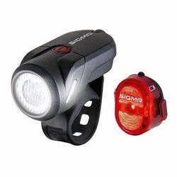 Sigma sport aura 35/nugget ii zestaw oświetlenia na usb 2020 oświetlenie rowerowe - zestawy