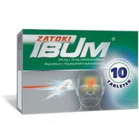 Tabletki IBUM ZATOKI 200mg+30mg x 10 tabletek