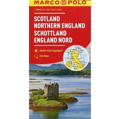Szkocja Anglia Północna mapa samochodowa 1:300 - MARCO POLO, oprawa kartonowa