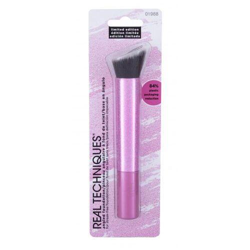 Real Techniques Pretty in Pink Angled Foundation pędzel do makijażu 1 szt dla kobiet - Promocyjna cena