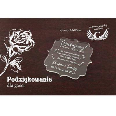 Podziękowania dla rodziców i gości GRAWERNIA.PL - Grawerowanie i Wycinanie Laserem GRAWERNIA.PL