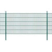 panele ogrodzeniowe 2d z słupkami - 2008x1030 mm 42 m zielone marki Vidaxl