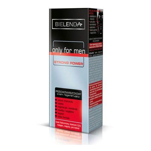 Only for men strong power krem regenerujący przeciw zmarszczkom (hyaluronic acid, coenzyme q10, collagen, magnesium, pro-retinol) 50 ml Bielenda