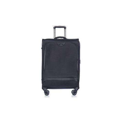 9bbc1e55e1d03 walizka duża em50420 z kolekcji copenhagen 4 koła miękka zamek szyfrowy tsa  nylon poszerzenie marki Puccini