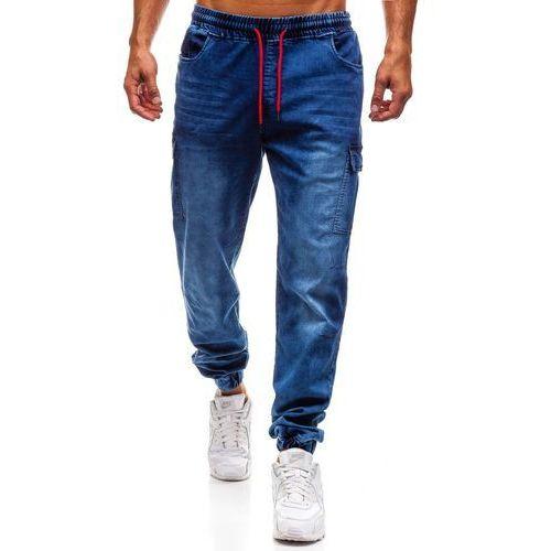 czarne spodnie joggery meskie denley 231