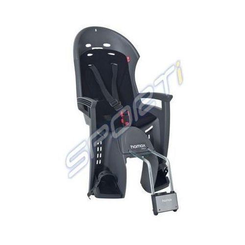 Hamax Fotelik rowerowy smiley ciemnoszary, czarna wyśćiółka