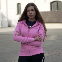 GymBeam Damska bluza na zamek z kapturem Baby Pink
