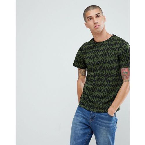 6118dd47 Another Influence All Over Camo Print T-Shirt - Green, kolor zielony