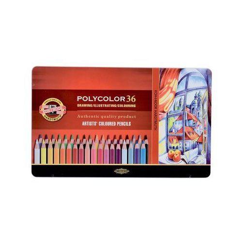 Kredki polycolor w metalowej kasecie 36 kolorów marki Koh-i-noor