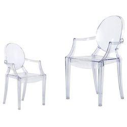 Krzesło dziecięce Mini Royal Junior inspirowane Louis Ghost - transparentny, d2-5228