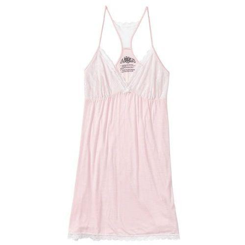 db7ffbe2918769 Bonprix Koszula nocna na cienkich ramiączkach, z koronką jasnoróżowy