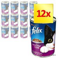 Zestaw , 12 x 400 g - smakołyki w sosie, kaczka z drobiem marki Felix